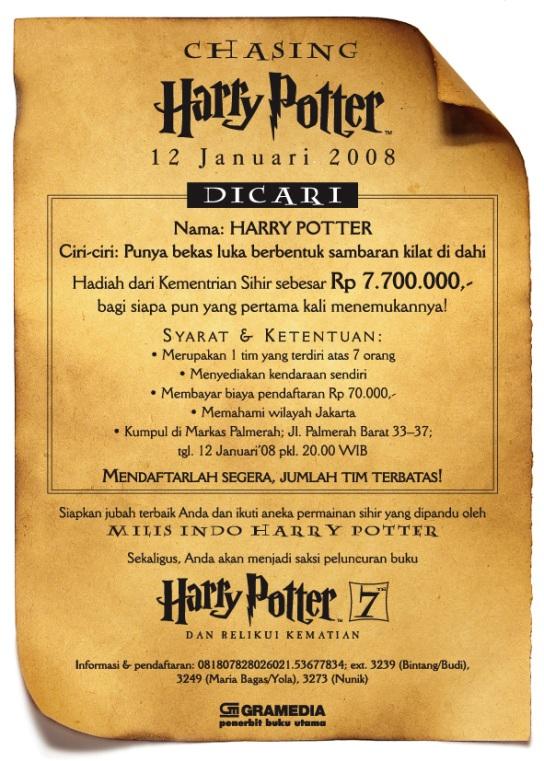 Mencari Harry Potter pada Tahun 2008