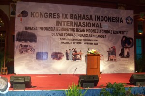 Kongres IX Bahasa Indonesia di BIDAKARA Jakarta