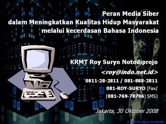 Peran Media Siber dalam Meningkatkan Kualitas Hidup Masyarakat melalui Kecerdasan Bahasa Indonesia