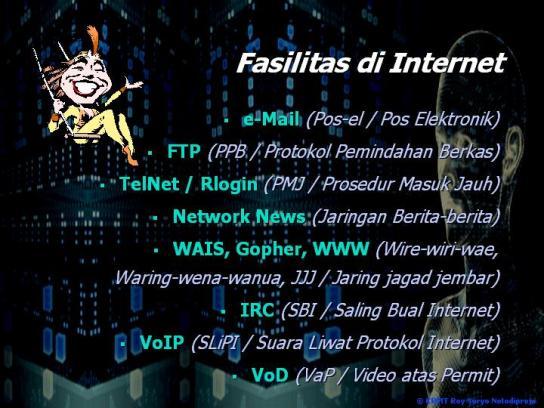 Fasilitas di Internet
