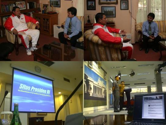 SBY Usai Berolahraga dan Peluncuran Situs