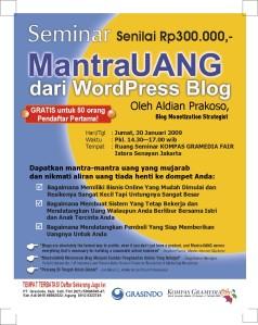 Seminar Mantra Uang WordPress
